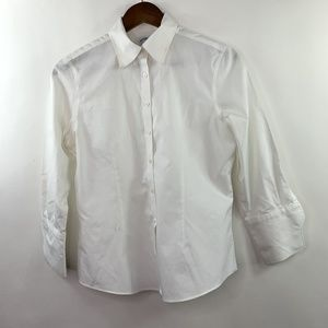 Brooks Brothers Petite 6 6P All Cotton Dress Shirt